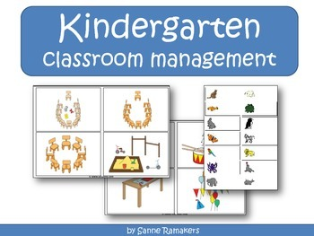 Kindergarten classroom management task cards and name cards