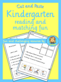 Kindergarten read, cut and paste activity