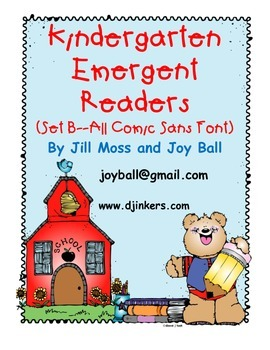 Kindergarten Emergent Readers Set BB: Comic Sans Font