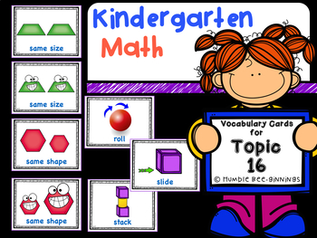 Kindergarten Math - enVision Compatible, Topic 16