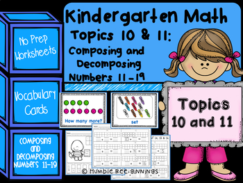 Kindergarten Math -  Topics 10 and 11: Composing and Decom