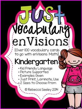 Kindergarten enVisions Math: Just Vocabulary