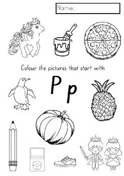 Letter P - Kindergarten literacy booklet (NSW Foundation Font)