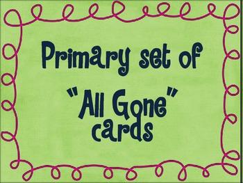 """Kindergarten set of """"All Gone"""" Games"""