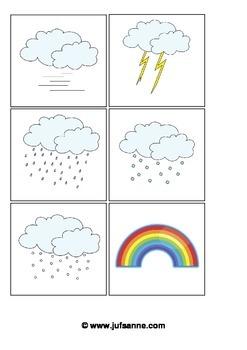 Kindergarten weather cards