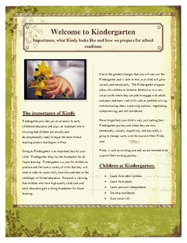 Kindergarten: what is it, a day in the life of, school readdiness