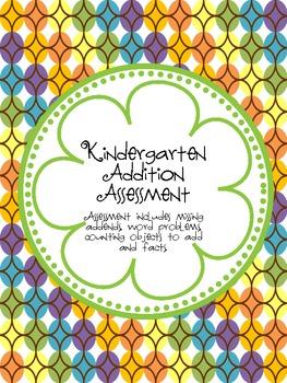 Kindergarten/1st grade Addition Assessment