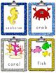 Kinderswrite2read Book Ocean Creatures Picture-Word Cards