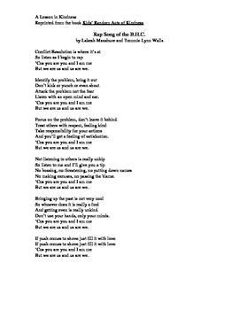 Kindess Rap Song