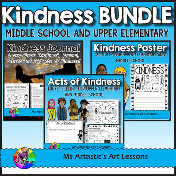 Kindness BUNDLE! Acts of Kindness and Poster Activity for Middle School!