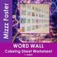 Kinetic Energy Word Wall Coloring Sheet