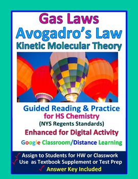 Kinetic Molecular Theory, Avogadro's Law  - Guided Study N