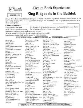 King Bidgood's in the Bathtub Literature Guide