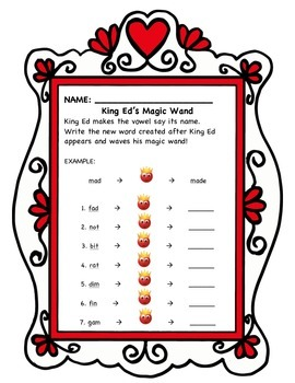 King Ed Activities for First Grade