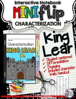 KING LEAR: INTERACTIVE NOTEBOOK CHARACTERIZATION MINI FLIP