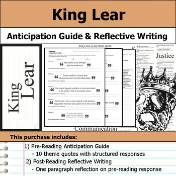 King Lear by William Shakespeare - Anticipation Guide & Re