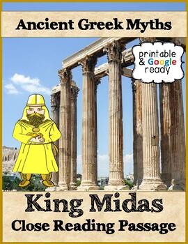 King Midas Greek Myth Close Reading Passage