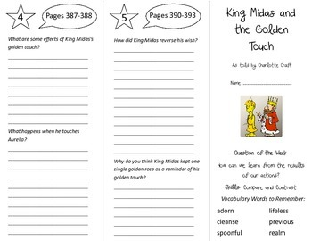King Midas and the Golden Touch Trifold - Reading Street 5