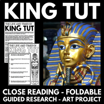 Ancient Egypt Unit - King Tut - Questions, Guided Research
