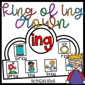 "King of ""ing"" Crown and Write the Room"