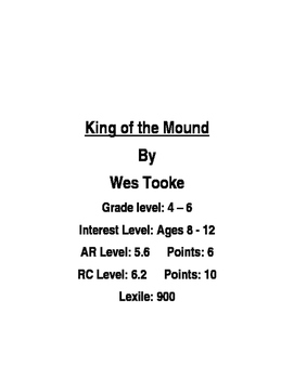 King of the Mound Novel Unit