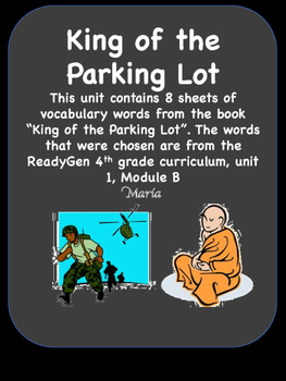ReadyGen King of the Parking Lot Vocabulary Words / Word W