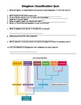 Kingdom Characteristics Quiz