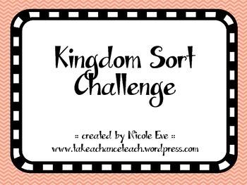 Activity Pack: Kingdoms Identification Sort Cards