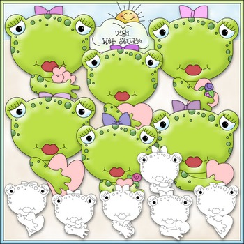 Kiss A Girl Toad Clip Art - Valentine's Day Clip Art - Fro