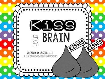 Kiss Your Brain Jar Label