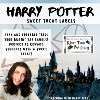 Kiss your Brain Jar Labels - Harry Potter Themed