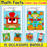 Addition and Subtraction Coloring for Earth Day Math, Spri