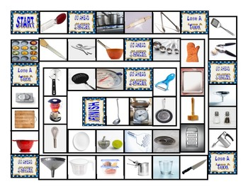 Kitchen Cookware and Utensils Board Game