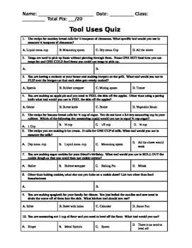 Kitchen Tool Use Quiz