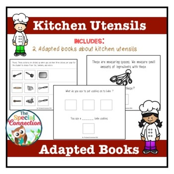 Kitchen Utensils: Adapted Books