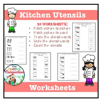Kitchen Utensils: Worksheets