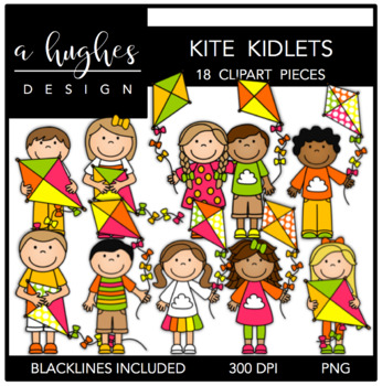 Kite Kidlets {Graphics for Commercial Use}