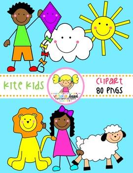 Kite Kids CLipart