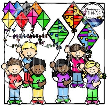 Kite Kids Clipart Bundle
