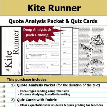 Kite Runner - Quote Analysis & Reading Quizzes
