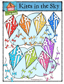 Kites in the Sky {P4 Clips Trioriginals Digital Clip Art}