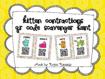 Kitten Contractions QR Code Scavenger Hunt