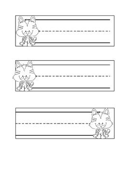 Kitty Cat Namecards