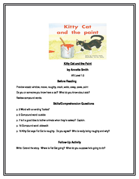 Kitty Cat and the Paint for Guided Reading (PM Plus)