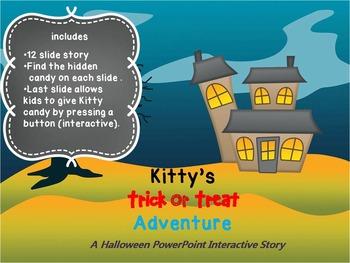 Kitty's Halloween Adventure PowerPoint Interactive Story