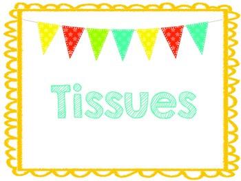 Kleenex/Tissue label Freebie!