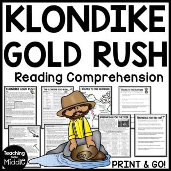 Klondike Gold Rush Informational Text Worksheet, DBQ, Call