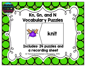 Kn, Gn, and N Vocabulary Puzzles