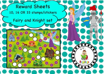 Knight and Fairy Reward Sheet Package