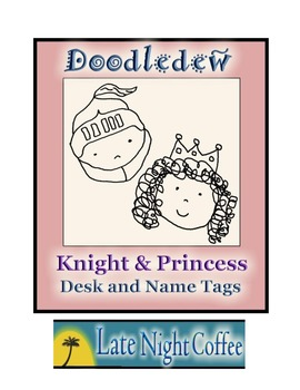 Knight and Princess Desk and Name Tags